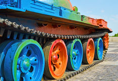 Military tank panzer track Stock Photo