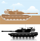 Military Tank simple vector Royalty Free Stock Photo