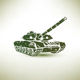 Military tank symbol Royalty Free Stock Image