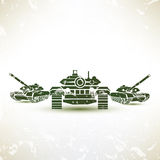 Military tank symbol Royalty Free Stock Photos