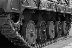 Military tank track Stock Image