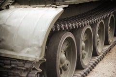 Military tank track Stock Photos