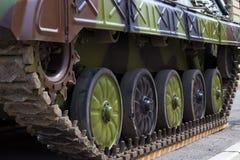 Military Tank track Stock Photo