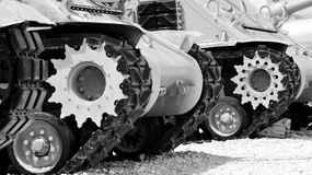 Military Tank Tracks Royalty Free Stock Image