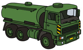 Military tank truck. Hand drawing of a green military tank truck - not a real model Royalty Free Stock Photography