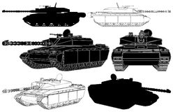 Military Tank Vector 01 Royalty Free Stock Photos