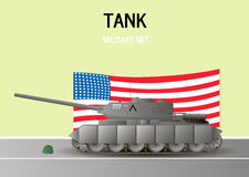 Military Tank.Vector illustration. War kill Stock Photo