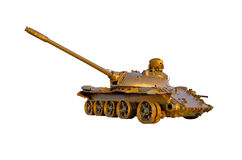 Military tank on white background Royalty Free Stock Photography