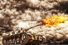 Military Tanki Firing Royalty Free Stock Images