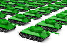 The military tanks Stock Photography