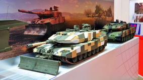 Military tanks on display at Singapore Airshow Royalty Free Stock Photography