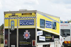 Military Tattoo  COLCHESTER ESSEX UK 8 July 2014:   Neighbourhood policing van Stock Photos
