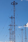 Military telecommunication towers Stock Images