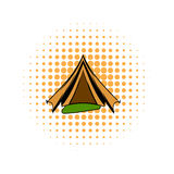 Military tent comics icon Royalty Free Stock Photos
