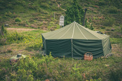 Military tent Royalty Free Stock Image