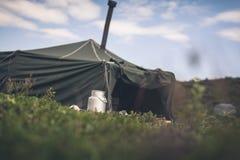 Military tent Stock Photo