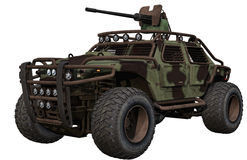 Military terrain car Stock Photography