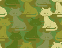 Military texture cat. Army kitten seamless texture. Soldiers pet Royalty Free Stock Images