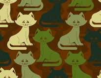 Military texture cat. Army kitten seamless texture. Soldiers pet Royalty Free Stock Image