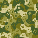 Military texture from gaming joysticks. Army seamless pattern ga Royalty Free Stock Images