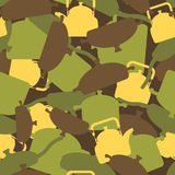 Military texture of kitchen utensils. Camouflage army seamless p Royalty Free Stock Photography