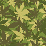 Military texture of marijuana. Soldiers camouflage hemp. Army se Stock Photo