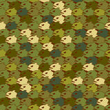 Military texture from Piranha. Army seamless pattern evil fish. Royalty Free Stock Photography