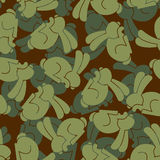 Military texture rabbit. Army bunny seamless texture. Soldiers h Royalty Free Stock Photo