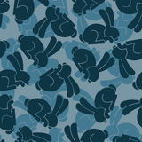 Military texture rabbit. Army bunny seamless texture. Soldiers h Stock Image