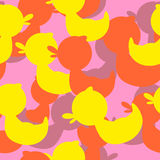 Military texture rubber ducks. Vector background camouflage Royalty Free Stock Photos