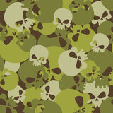 Military texture of skulls. Camouflage army seamless pattern fro Royalty Free Stock Photos