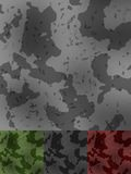 Military Texture Style. Black, green, grey, red Stock Photo