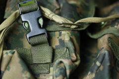 Military texture of tactical vest. Detail of modern army tactical vest Royalty Free Stock Photography