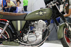 Military themed custom motorcycle Royalty Free Stock Image