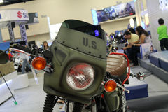 Military themed custom motorcycle Stock Photo
