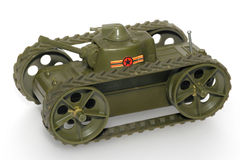 Military toy tank. One of the many thousand toys my brother is collecting. Battery opperated toy from the 70's or 80's Royalty Free Stock Photos
