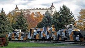 Military train. From World War II, Zvolen - Slovakia royalty free stock photos