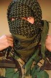 Military training combat. Preparing camouflage Royalty Free Stock Photo