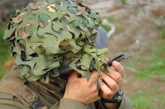 Military training combat. Guidance training Royalty Free Stock Photos
