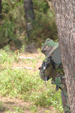 Military training combat. Forest/jungle environment Royalty Free Stock Photo