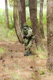 Military training combat. Portrait shot, forest/jungle environment Stock Photos