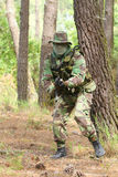 Military training combat. Forest/jungle environment Royalty Free Stock Photos