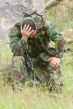 Military training combat. Portrait shot, forest/jungle amvironment Stock Image