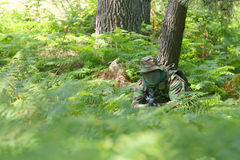 Military training combat. Forest/jungle environment Royalty Free Stock Photography