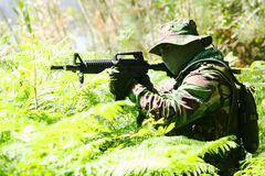Military training combat stock photo