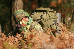 Military training combat Royalty Free Stock Photography