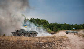Military training exercises Stock Images