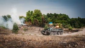 Military training exercises Royalty Free Stock Image