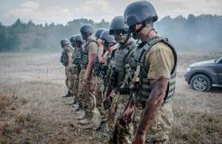 Military training exercises Stock Photo