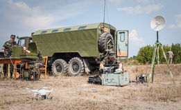 Military training exercises Royalty Free Stock Images